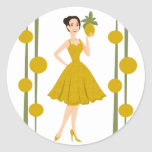 Pineapple She Classic Round Sticker