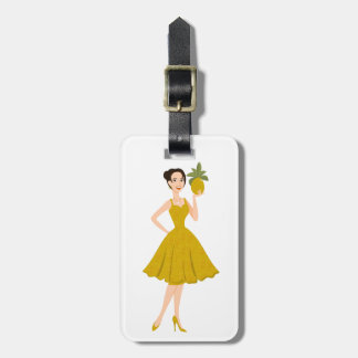 Pineapple She Luggage Tag