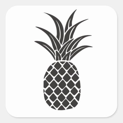 Pineapple Silhouette Sticker | Zazzle