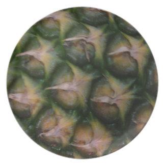 Pineapple skin dinner plates