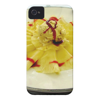 Pineapple slices with vanilla ice cream iPhone 4 cover