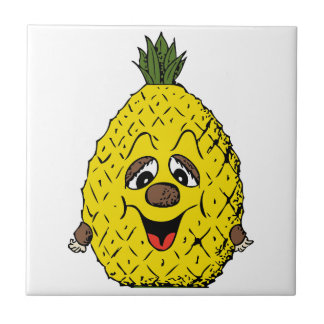 Pineapple Small Square Tile