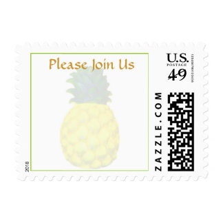 Pineapple Special Event Invitation Stamp