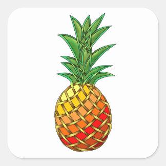 Pineapple Square Sticker