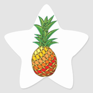 Pineapple Star Sticker