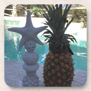 Pineapple Starfish Beverage Coaster