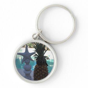 Pineapple Starfish Keychain