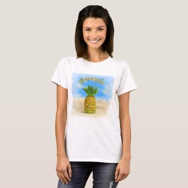 Beach Themed Pineapple t-shirt