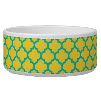 Pineapple Teal Moroccan Quatrefoil Trellis #5 Bowl