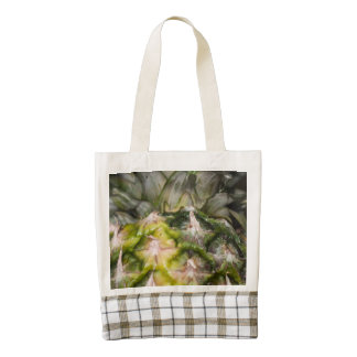 Pineapple texture zazzle HEART tote bag