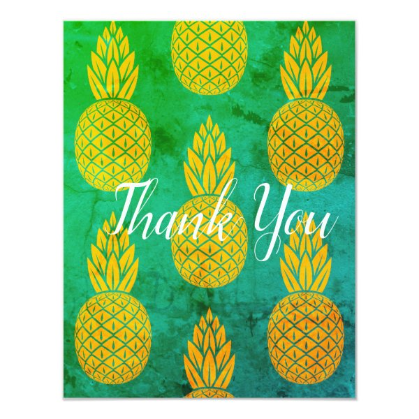 Pineapple Thank You Washed Card