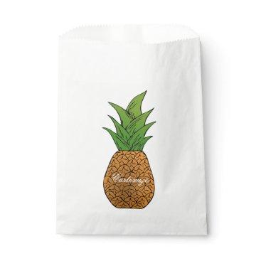 Hawaiian Themed pineapple Thunder_Cove Favor Bag