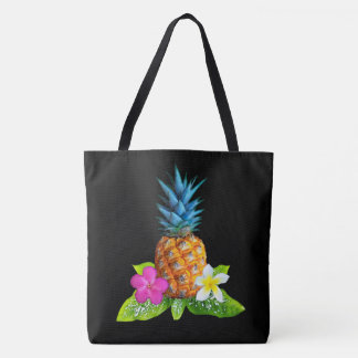 Pineapple Tote Bag, Change Black Tote to ANY COLOR