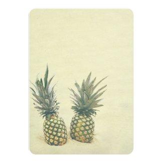 Pineapple Tropical Beach Destination Wedding Invitation