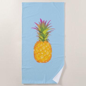 Beach Themed Pineapple - Tropical Beach Towel