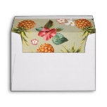 Pineapple Tropical Beach Wedding Envelope at Zazzle