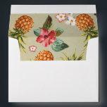 "pineapple tropical beach wedding envelope<br><div class=""desc"">pineapple tropical aloha beach wedding envelopes</div>"