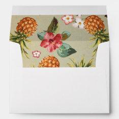 Pineapple Tropical Beach Wedding Envelope at Zazzle