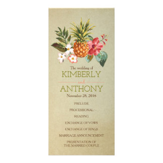 pineapple tropical beach wedding programs