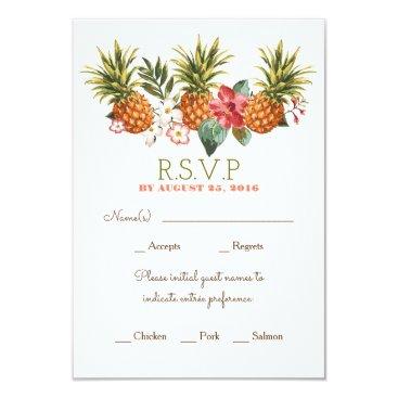 lovelywow pineapple tropical beach wedding rsvp card