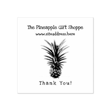 Professional Business Pineapple Tropical Business Name Website Stamp