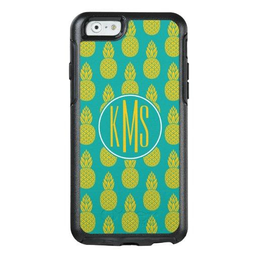 Pineapple Tropical Fruit : Monogram OtterBox iPhone 6/6s Case : Zazzle