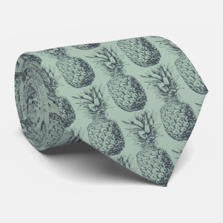 Pineapple, tropical fruit pattern design tie