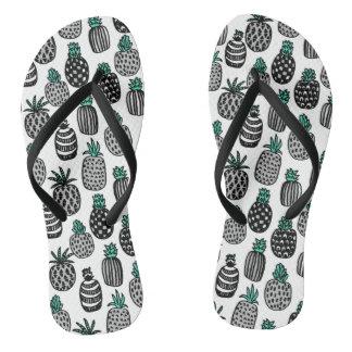 Pineapple - Tropical Fruit Summer / Andrea Lauren Flip Flops
