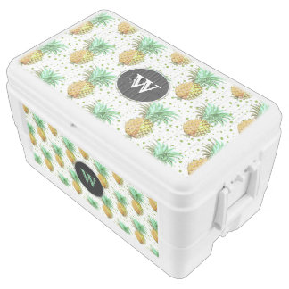 Pineapple Tropical Pattern Chest Cooler