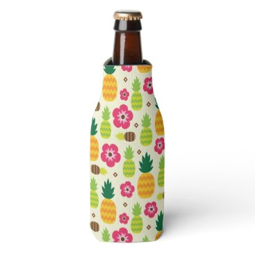 Pineapple Tropical Summer Seamless Pattern Bottle Cooler