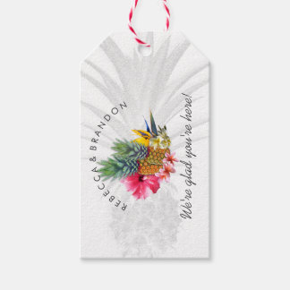 Pineapple Tropical Wedding Personalized Gift Tags