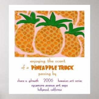 Pineapple Truck print