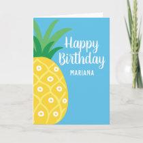 Pineapple Tutti Frutti Fruit Birthday Party Card