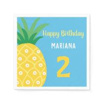 Pineapple Tutti Frutti Fruit Birthday Party Napkins