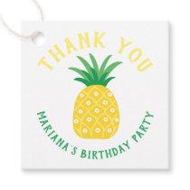 Pineapple Tutti Frutti Fruit Birthday Thank You Favor Tags