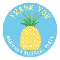 Pineapple Tutti Frutti Fruit Thank You Classic Round Sticker