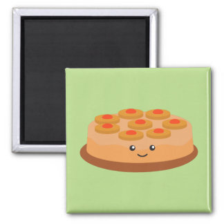 Pineapple Upside Down Cake 2 Inch Square Magnet
