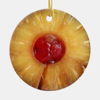 Pineapple Upside Down Cake Pineapple Ceramic Ornament
