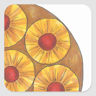 Pineapple Upside Down Cake Stickers