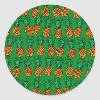 Pineapple Wallpaper Classic Round Sticker