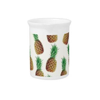 Pineapple Wallpaper Pattern Drink Pitcher