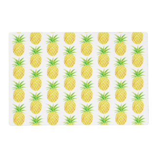 Pineapple Watercolor Aloha Tropical Placemat