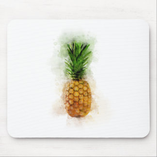 Pineapple Watercolor Mouse Pad