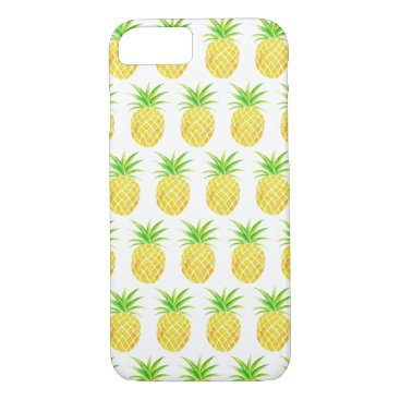 Beach Themed Pineapple Watercolor Pattern iPhone 7 Case