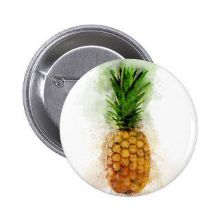 Pineapple Watercolor Pinback Button