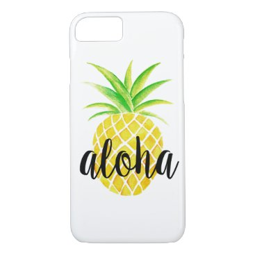 Beach Themed Pineapple Watercolor Tropical Aloha iPhone 7 Case