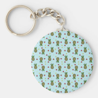Pineapple Watermelon Fruit Lime Citron Tropical Keychain