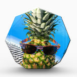 "Pineapple wearing sunglasses at swimming pool award<br><div class=""desc"">Pineapple wearing sunglasses at swimming pool in Madeira Portugal</div>"
