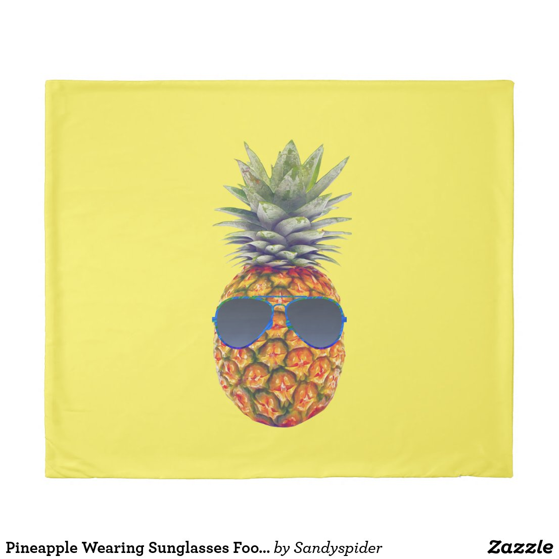 Pineapple Wearing Sunglasses Foodies, ZSSG King Duvet Cover
