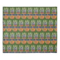 Pineapple Wearing Sunglasses Pattern Foodies, ZSSG Duvet Cover